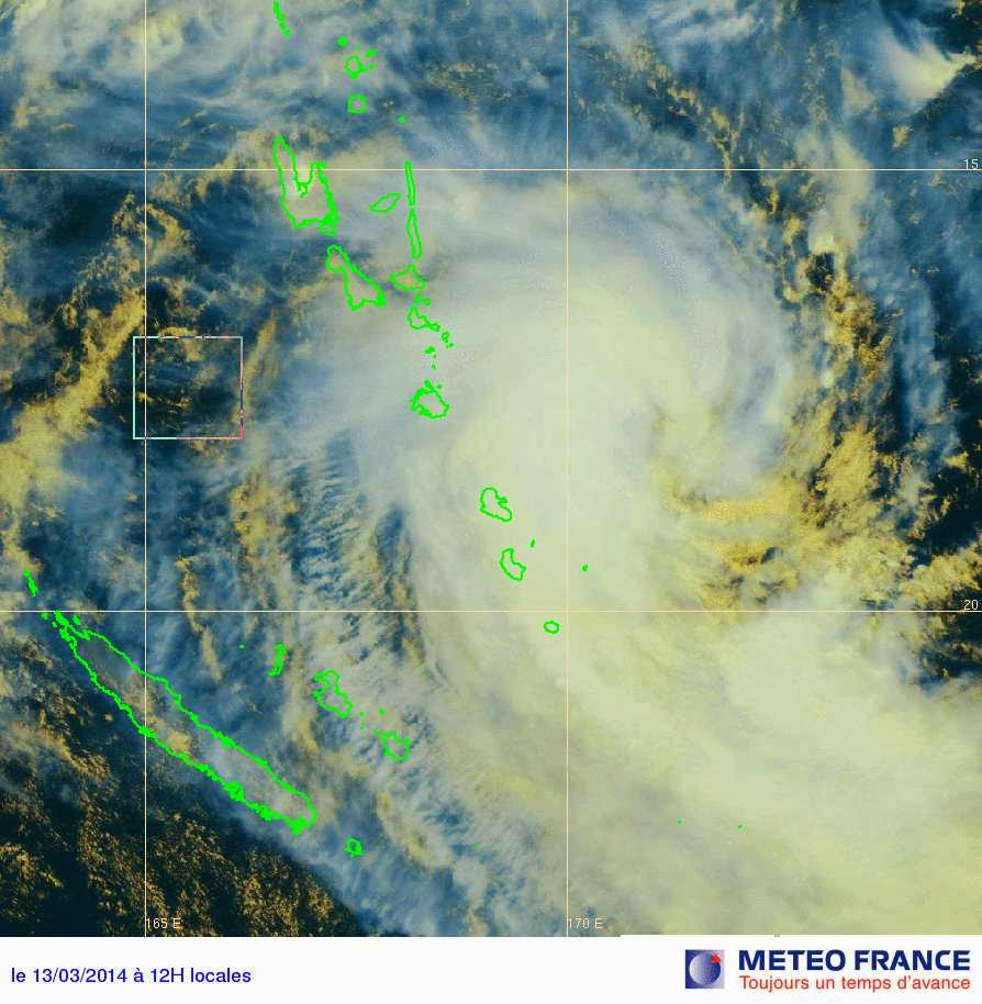 Images satellites du cyclone tropical Lusi