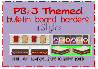 peanut butter and jelly themed bulletin board border
