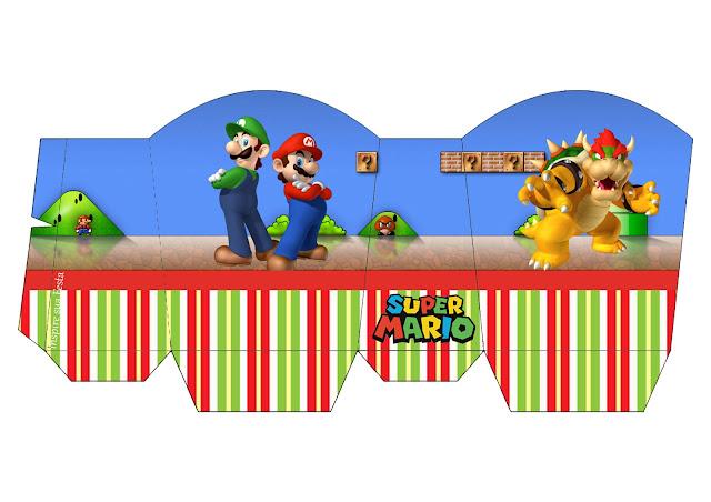 Caja para Imprimir Gratis de Fiesta de Super Mario Bros.