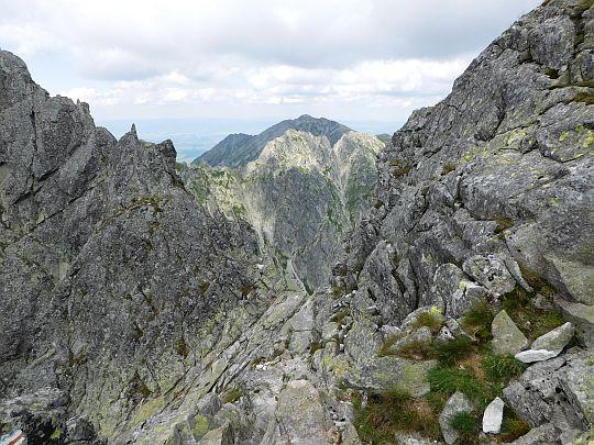 Przełączka nad Buczynową Dolinką.
