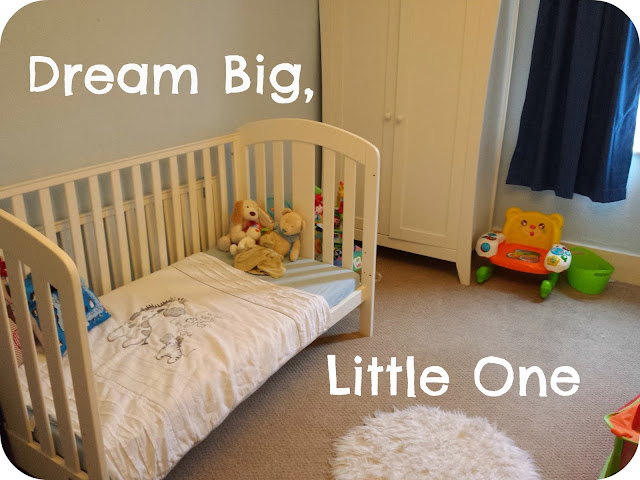 transition from cot to bed, toddler bed, dream big little one