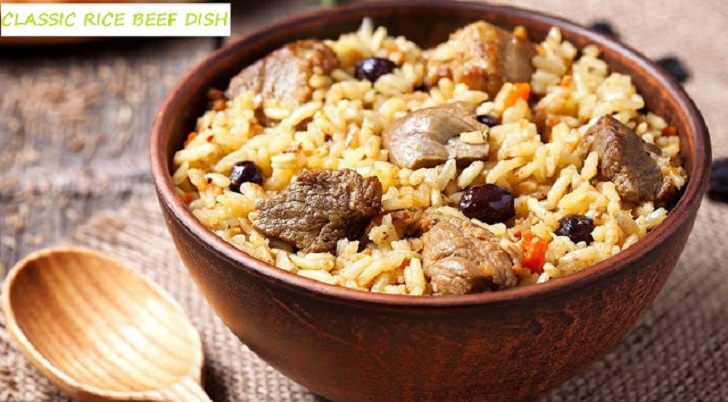 CLASSIC BEEF STEAK AND RICE DISH RECIPE
