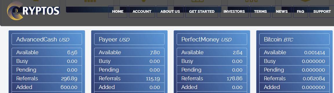 Наша прибыль в Cryptos