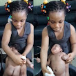 Trending video of a 7-year old girl bathing her newly born sibling