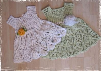 Trico y crochet madona m a vestidos a crochet para bebes for Tejidos y novedades paredes