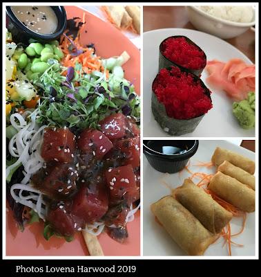 Poke, sushi, spring rolls, japanese, north conway