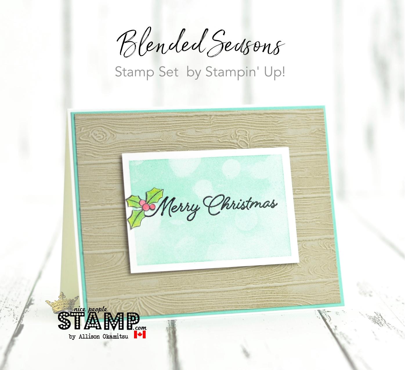 nice people STAMP! - Stampin\' Up! Canada: Blended Seasons & Bokeh ...