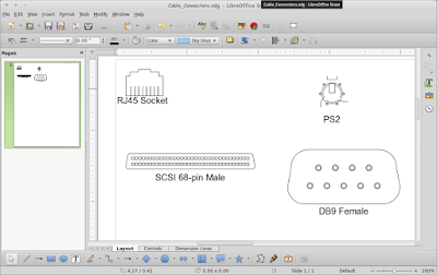 Menggambar Diagram Cable Connector di LibreOffice Draw