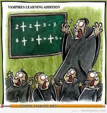 Meme de humor sobre vampiros