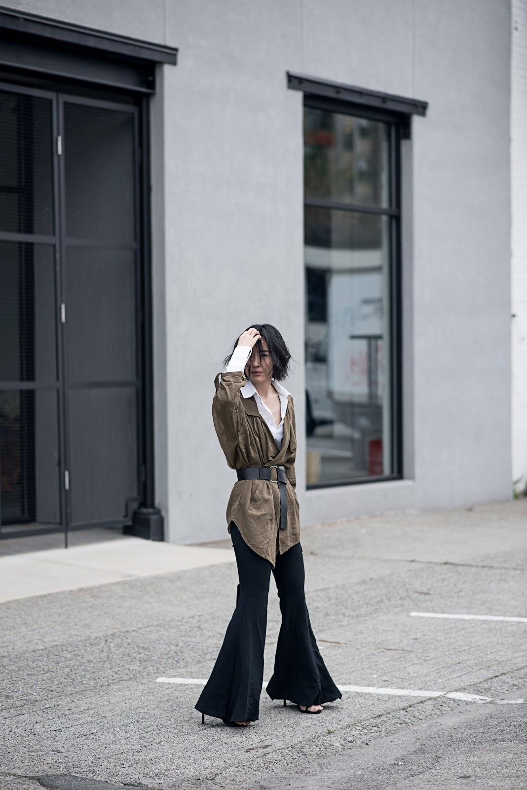von vogue claire liu zara flares stuart weitzman heels