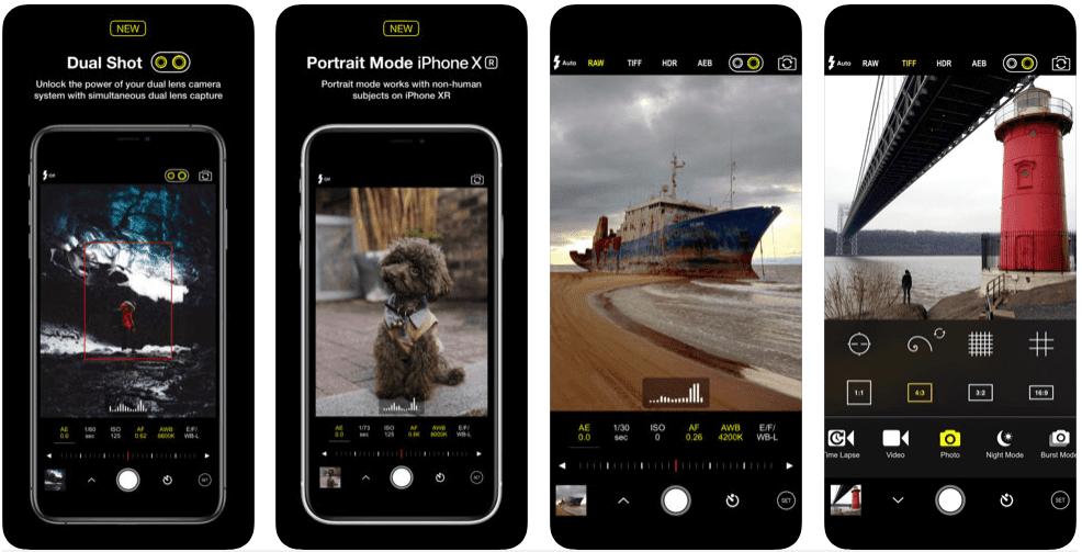 تطبيق كاميرا احترافي للايفون