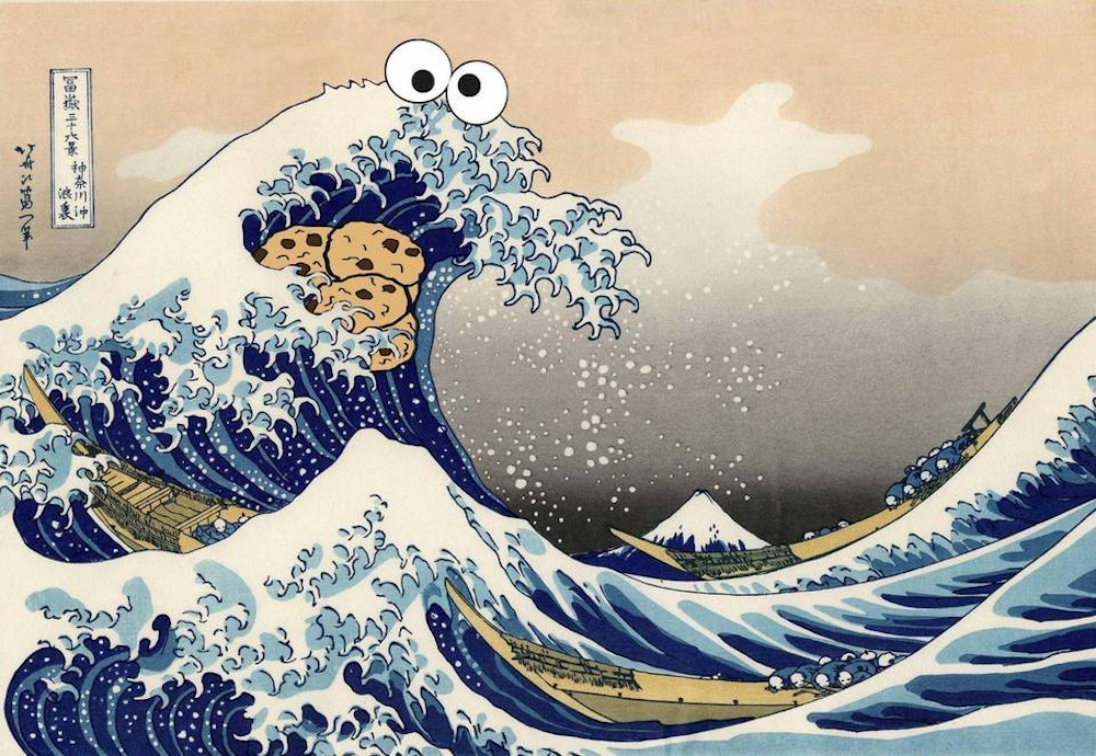The Great Wave of Cookie Monster's passion.