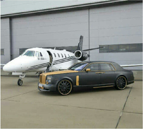 Emmanuel Adebayor's private jet