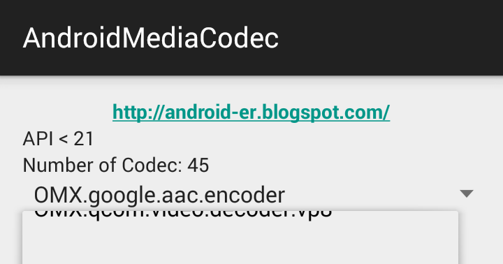 Android-er: List supported media codec using MediaCodecList