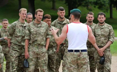 England Stars Put Through Military Drills In Army Camouflage Ahead Of World Cup Qualifier (Phot …