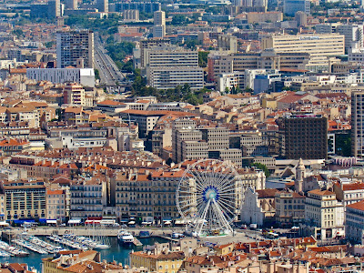 View of the Vieux Port in Marseille
