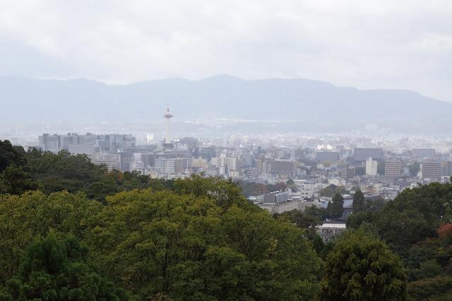 kyoto city view from kiyomizu dera