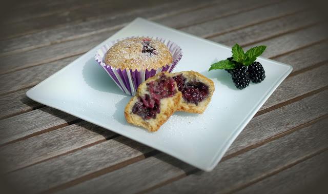 vegane Brombeer-Muffins | Backen | Rezept | Gebäck
