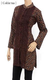 Foto Baju Batik Wanita Muslimah
