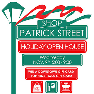 Shop Patrick Street Holiday Open House Nov. 9, 5-9.
