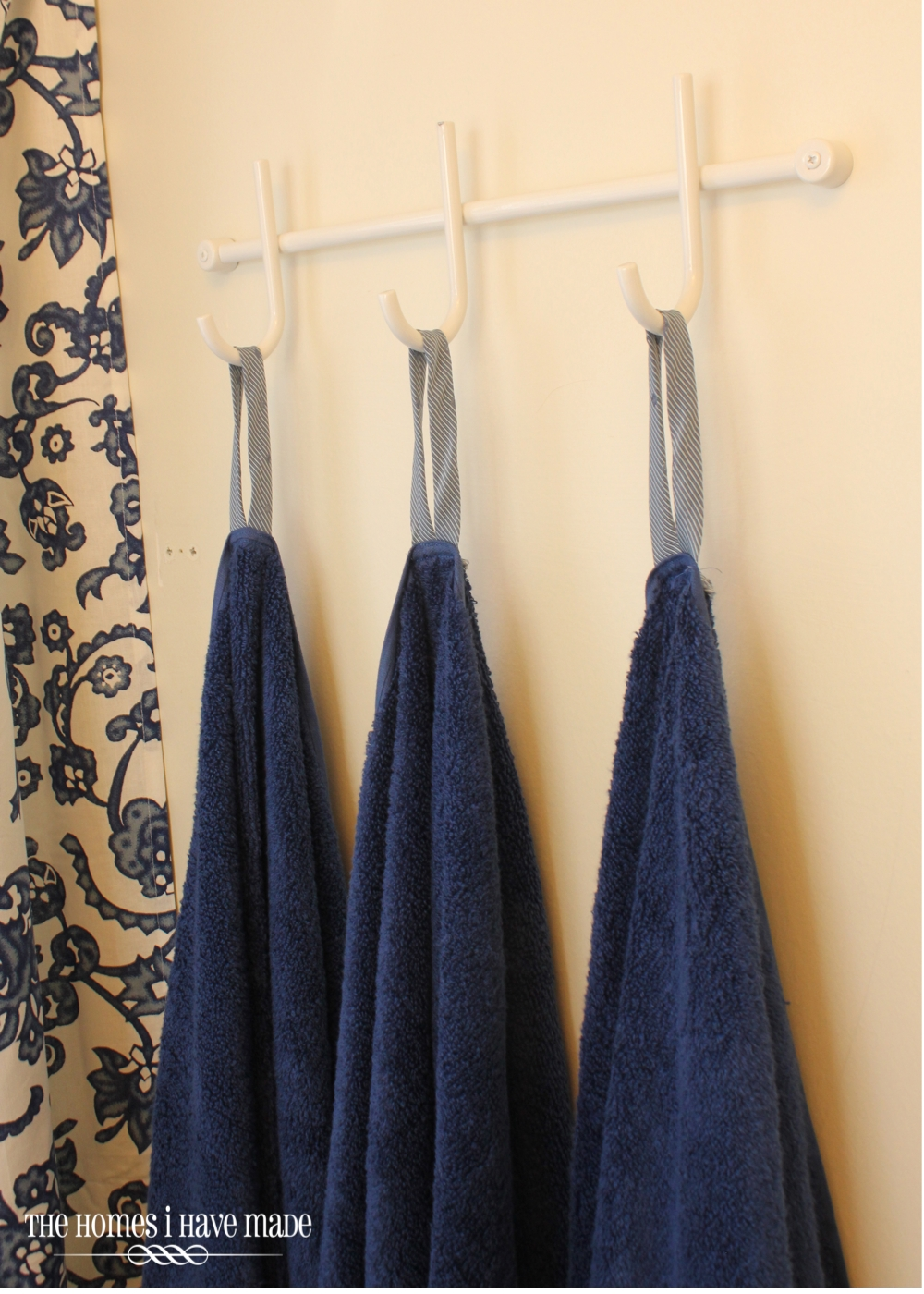 We Removed The Towel Bar And Replaced It With This Simple Three Hook Rack