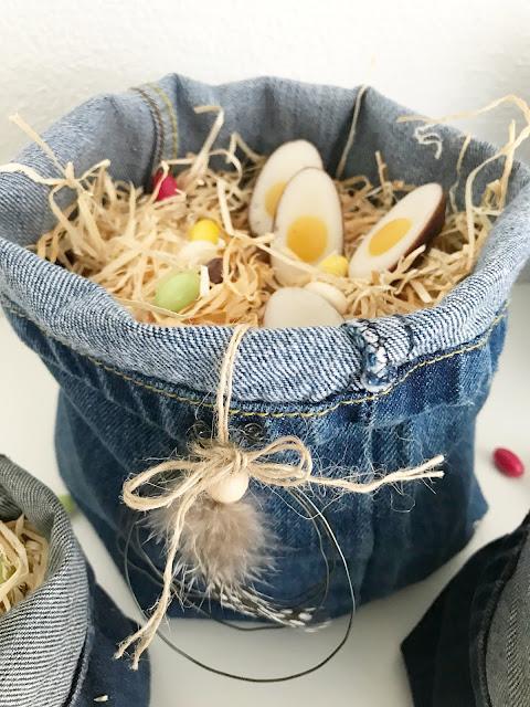 Osternest aus Jeans