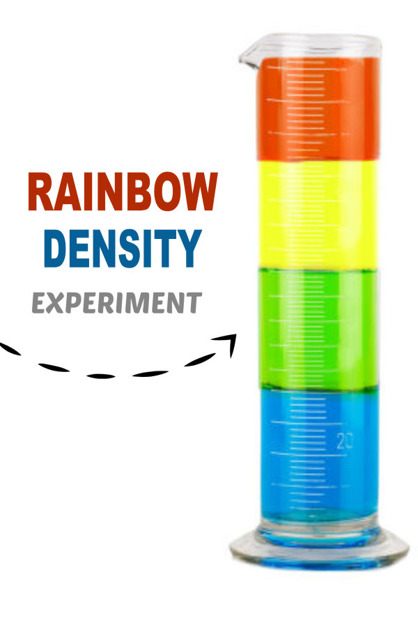 Make a sugar rainbow with this fun density tower experiment for kids!  This easy to set up activity would make a great science fair project! #sugarrainbowexperiment #sugarrainbow #sugardensity #sugardensityrainbow #densityexperimentforkids #densitysciencefairproject #densitytower #scienceexperimentskids #scienceexperiments