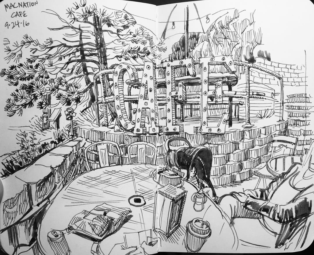 15-Mac-Nation-Café-Paul-Heaston-Urban-Sketcher-Inserts-Himself-in-the-Drawing-www-designstack-co