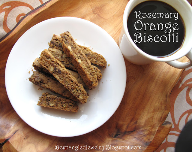 Rosemary Orange Walnut Biscotti - recipe