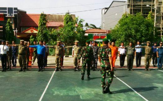 Peleton, Komando, Pemkab ,Kep.Selayar, Latihan, Di, Makodim
