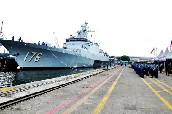 Dua Kapal Perang Malaysia Tiba di Tanjung Priok