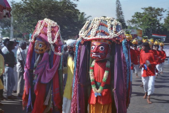 Mysore, Mysuru, Kannada Rajavastava festival, Shri Aravan, © L. Gigout, 1990