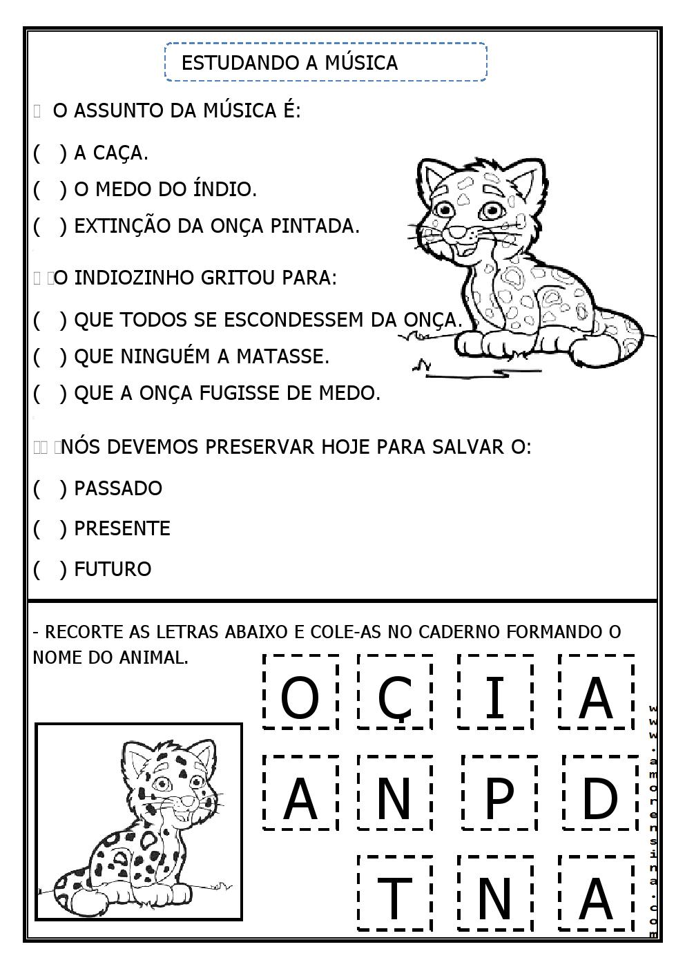 Excepcional ÍNDIO E CONSCIÊNCIA AMBIENTAL - EDUCAÇÃO INFANTIL E 1º ANO  MJ37