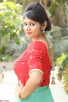 Lucky Shree Looks super cute in Bright Red Green Anarkali Dress ~  Exclusive 012.JPG