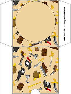 Pirate Party Free Printable CD Case.