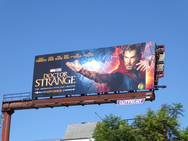 Doctor Strange film billboard
