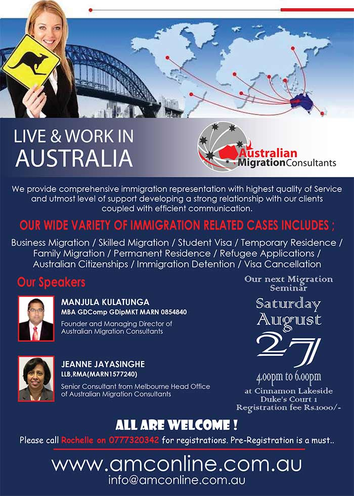 Live and Work in Australia.