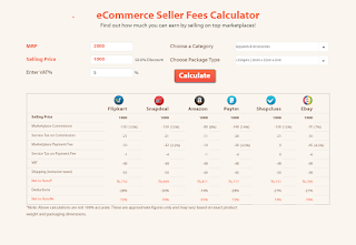 Flipkart-Amazon-Fees-Calculator