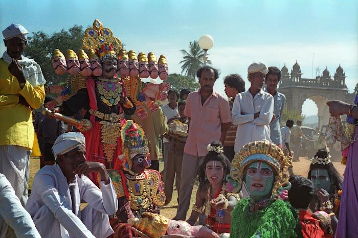 Mysore, Mysuru, Kannada Rajavastava festival, Brahmâ, © L. Gigout, 1990
