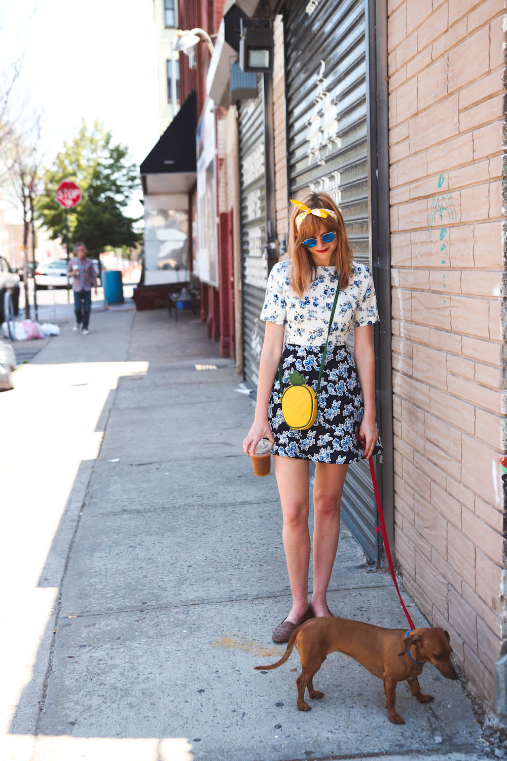 missguided floral dress, ray ban sunglasses, brooklyn ny fashion blog, nyc fashion blog, vintage fashion nyc