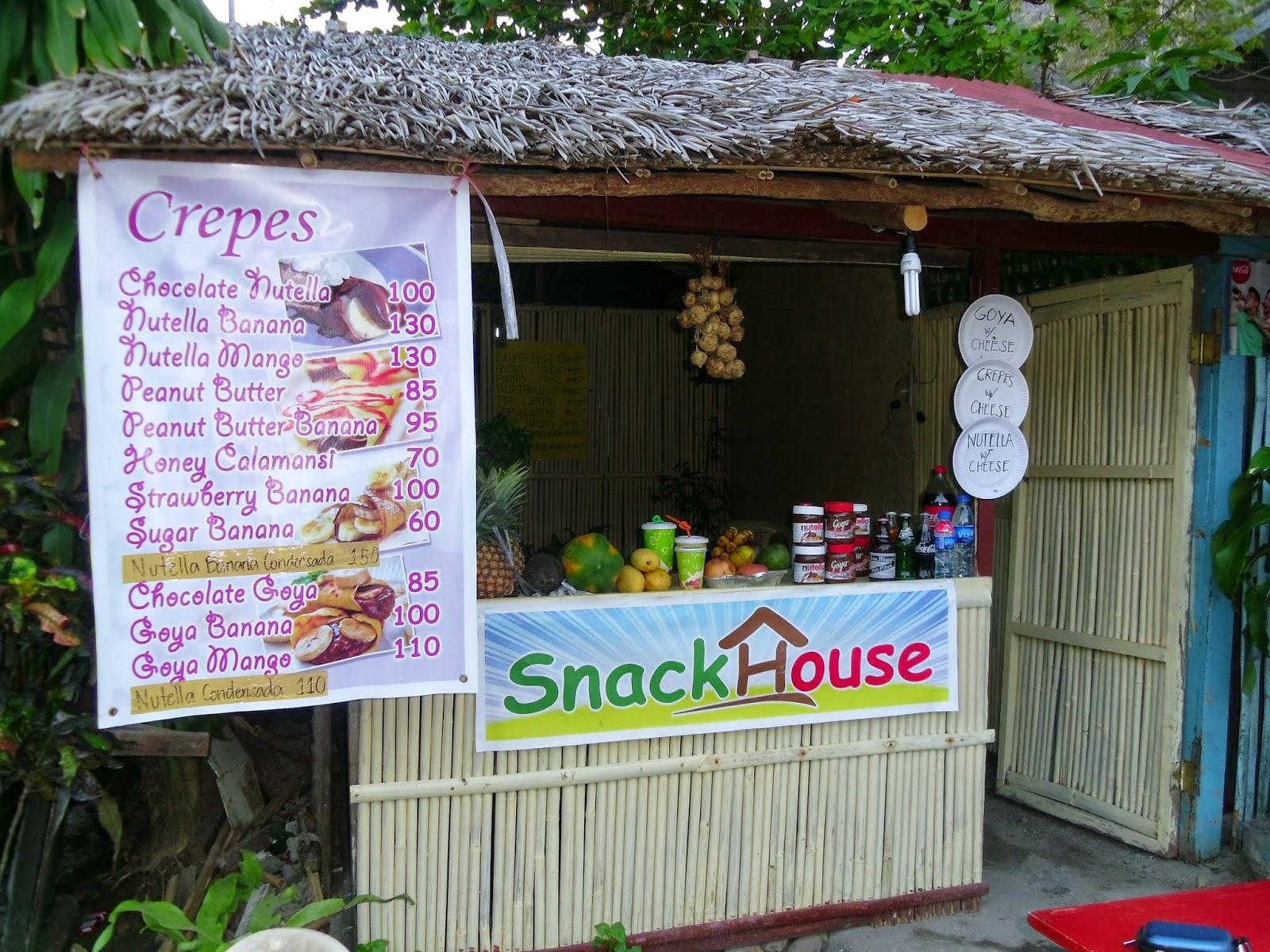 Snacks baratos em El Nido