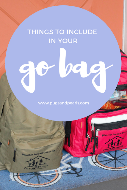 Go Bag Essentials // Pugs & Pearls Blog