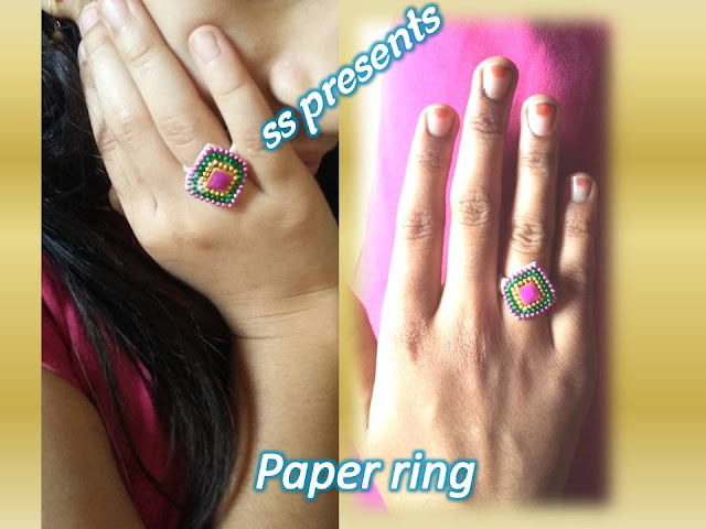 Here is Images for paper rings,paper rings models,how to make paper earrings at home,how to make paper quilling earrings with comb,how to make earrings with silk thread,How to make paper ring at home kids accessories