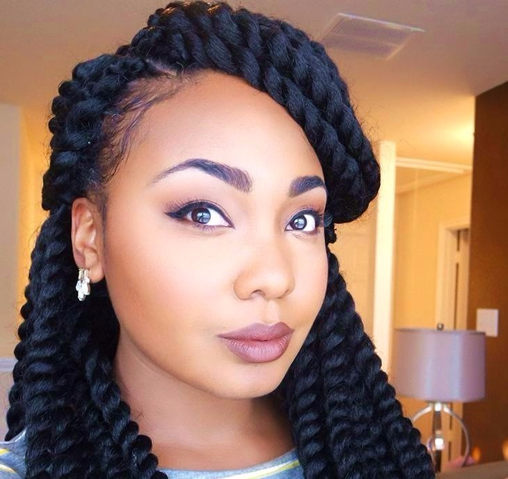 Long twist braids