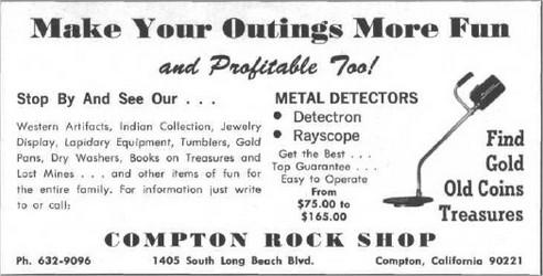 Détecteurs de métaux RAYSCOPE, détecteurs métaux vintage, vintage métal detector, détecteurs de métaux anciens, old métal detector