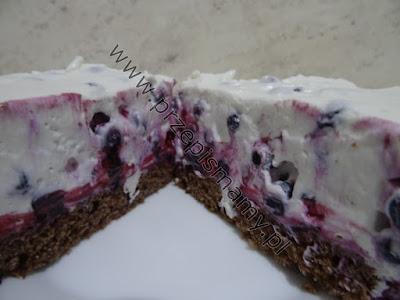 Ciasto z masą jagodową