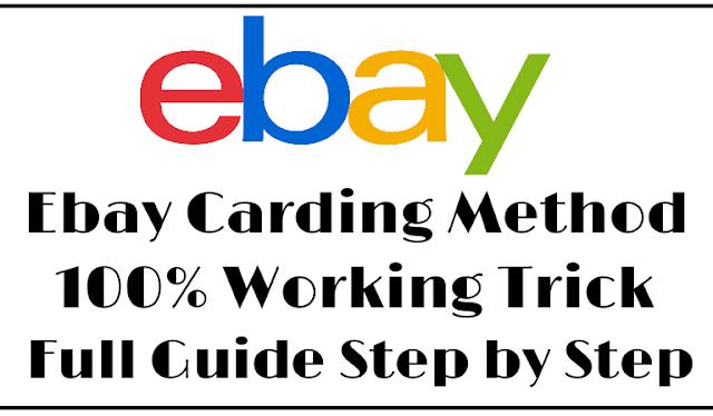 Ebay Carding Method