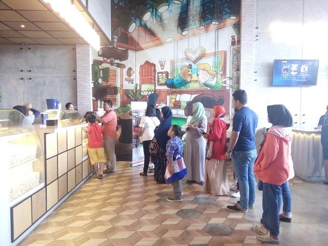 Bioskop Kota Cinema Mall, Desain Antri Cemilan