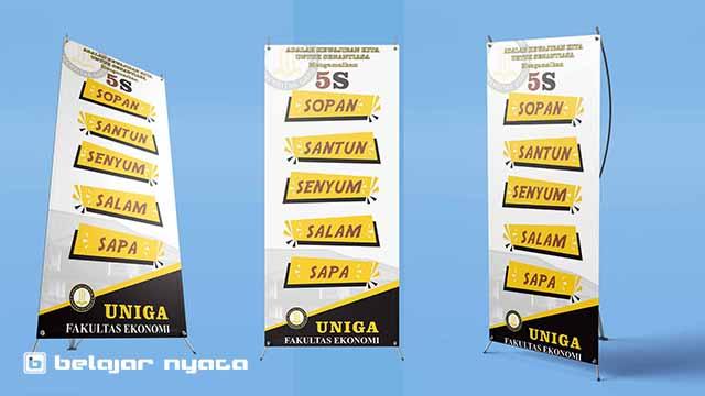 Contoh Desain X Banner Tentang Tata Krama Format CorelDRAW Gratis