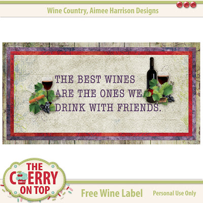 Free Printable Wine Label from The Cherry On Top
